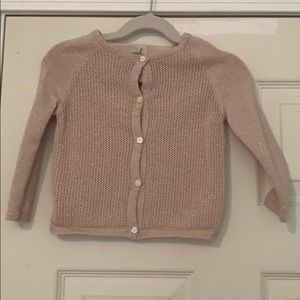 Girl's rose gold cardigan. Size 18-24mths